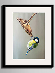 E-HOME® Framed Canvas Art The Bird Under The Lotus Framed Canvas Print One Pcs
