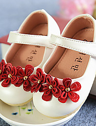 Flats Spring Fall Comfort Light Up Shoes Leatherette Casual Flat Heel Flower Pink White Other