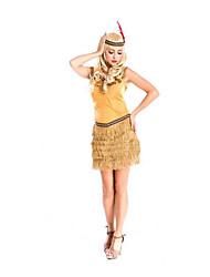Fête / Célébration Déguisement Halloween Jaune Couleur Pleine Jupe / Coiffure Halloween / Noël / Carnaval Féminin