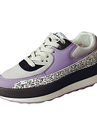 Women's Athletic Shoes Fall Winter Comfort PU Casual Low Heel Lace-up Pink Purple Others