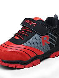 Boy's Athletic Shoes Winter Comfort Synthetic Outdoor Flat Heel Magic Tape Blue Black and Red Walking