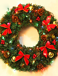 Christmas Wreath Pine Needles Christmas Decoration For Home Party Diameter 40cm Navidad New Year Supplies