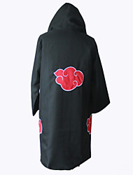 Inspired by Naruto Akatsuki Anime Cosplay Costumes Cosplay Tops/Bottoms Print Black Long Sleeve Cloak