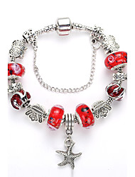 Bracelet Bracelets de rive / Bracelet Alliage / Acrylique / Résine / Strass Quotidien / Décontracté Bijoux CadeauTaies / Argent / Rouge /