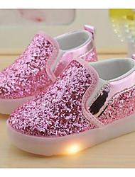 Mädchen Loafers & Slip-Ons Komfort Glanz PU Normal Weiß Schwarz Silber Rosa Flach