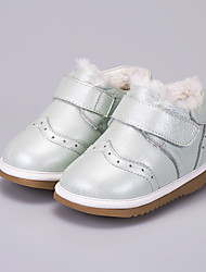 Girl's Boots Comfort Leather Casual White Khaki