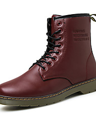 High Quality Men's Fashion Boots Comfort Combat Boots Casual Tooling Boots Flat Heel Lace-up Black / Brown / Burgundy