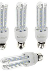7W E26/E27 Lâmpadas Espiga T 36 SMD 2835 600 lm Branco Quente / Branco Frio Decorativa V 4 pçs
