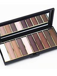 10 Palette de Fard à Paupières Sec Fard à paupières palette Poudre Set Maquillage Quotidien