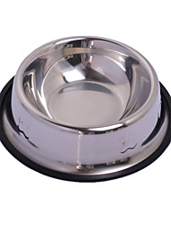 Dog Feeders Pet Bowls & Feeding Portable Silver