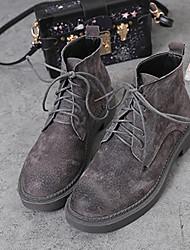 Women's Boots Fall / Winter Comfort Suede Casual Black / Dark Gray