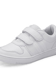 Boy's Athletic Shoes Spring Comfort Leather Casual Flat Heel Magic Tape White Walking