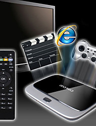 x6 android 4.4 caixa de tv inteligente (wifi, blue-tooth, lan, usb, hdmi, tf)