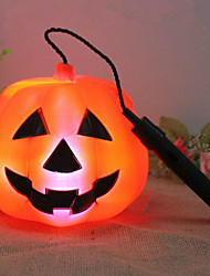 Halloween Props Ghost Festival Props Pumpkin Light Battery Pumpkin Lantern Hand-Held Pumpkin Lantern