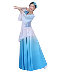 Costumes de Cosplay Fête / Célébration Déguisement Halloween Incarnadin / Bleu Ciel Couleur Pleine Jupe / Coiffure Féminin