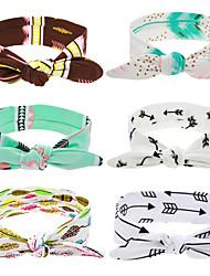 New Cute Baby Flower Elastic Headband Bow Knot Band Rabbit Ears Headwear Girls Hair Cotton Hats Hair Accessories