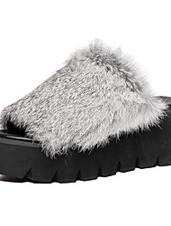 Women's Slippers & Flip-Flops Fall / Winter Creepers Pigskin Casual Platform Black / Gray Others