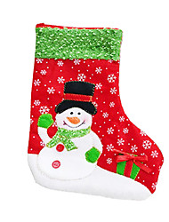 Christmas Decorations / Gift Bags Holiday Supplies Socks / Santa Suits / Snowman Plastic / Textile Red / Green Above 3