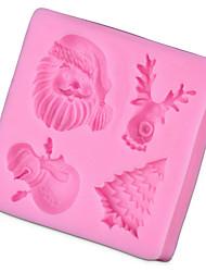 моделирования серии рождественские поделки сахара прессформы инструменты прессформы торта выпечки