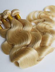 Бразильская волна тела волос 4 пучки 613 блондинка виргинские бразильские волосы переплетения человеческих волос