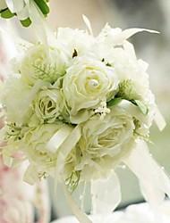 """Fleurs de mariage Rond Noué à la main Roses Bouquets Mariage La Fête / soirée Soie 5.51""""(Env.14cm)"""