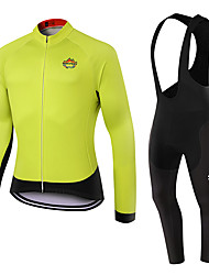 WOLFKEI Winter Thermal fleece Long Sleeve Cycling Jersey Long Bib Tights Ropa Ciclismo Cycling Clothing Suits #WK105