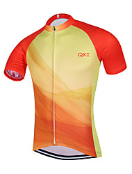 Sports QKI China Cycling Jersey Men's Short Sleeve Bike Breathable / Quick Dry / Anatomic Design / Front Zipper / Back Pocket / Sweat-wicking Jersey