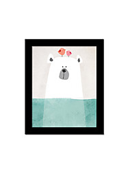 Unframed Canvas Print Abstract Modern / European Style Bear Pattern Wall Decor For Home Decoration