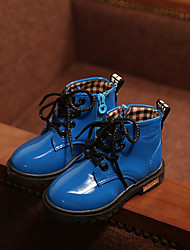 Boy's Boots Spring Fall Winter Comfort Customized Materials Casual Flat Heel Blue