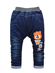 Boy's Cotton Fashion Cartoon Bear Spring/Fall/Winter Going out/Casual/Daily Warm Children Heavy Padded Pants