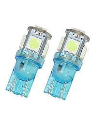2x iceblue t10 5SMD 5050 LED voiture dôme licence carte lumière W5W 158 192 194 168