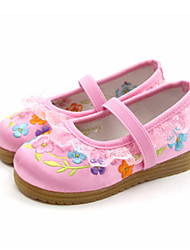 Girl's Flats Spring Fall Comfort Silk Casual Flat Heel Pink Red Fuchsia