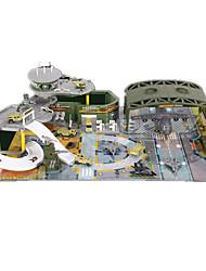 Piste Rail Car Jouets Créatif Nouveaux Jouets Tank Guerrier Avion Chasseur Automatique Hélicoptère Nouveautés Arc-en-ciel PlastiqueNoël