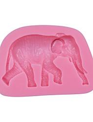 Elephant Chocolate Cake Mold 3D Animal Silicone Fondant Mould Cake Decorating Tools Cupcake Mold SM-044