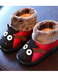 Kids' Girls' Baby Boots Comfort Leatherette Casual Comfort Black Coffee Ruby Flat