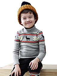 Boy's Cotton Fashion Spring/Fall/Winter Going out/Casual/Daily Long Sleeve Christmas Reindeer Blouse