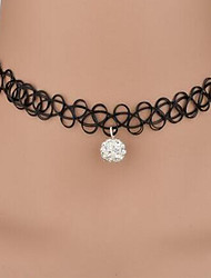 Necklace Rhinestone Choker Necklaces Jewelry Halloween Daily Casual Round Dangling Style Lace Women 1pc Gift As Per Picture