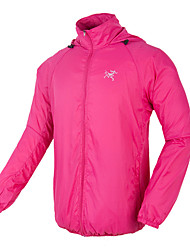 Men's Long Sleeve Running Sweatshirt Windbreakers Sun Protection ClothingWaterproof Breathable Quick Dry Windproof Ultraviolet Resistant