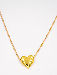 Women's Pendant Necklaces Single Strand Heart Alloy Love Heart Fashion Cute Style Golden Jewelry For Daily Casual 1pc