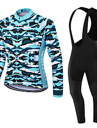 WOLFKEI Winter Thermal fleece Long Sleeve Cycling JerseyLong Bib Tights Ropa Ciclismo Cycling Clothing Suits #WK75