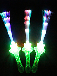 1Pcs Flash Optical Fiber Flashlight Sticks Electronic Luminous Toy Concert KTV Party Random Color