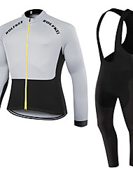 WOLFKEI Winter Thermal fleece Long Sleeve Cycling JerseyLong Bib Tights Ropa Ciclismo Cycling Clothing Suits #WK47