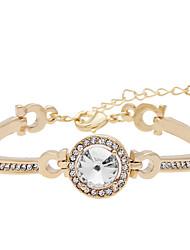 Feminino Bracelete Pulseiras Algema imitação de diamante Liga Personalizado Moda Jóias Jóias 1peça