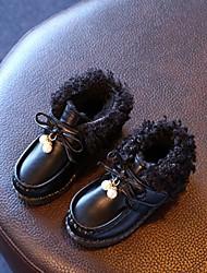 Girls' Boots Fall Winter Comfort PU Casual Flat Heel