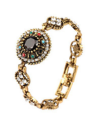 Fashion Elegant Women Black Resin Stone Bracelets Multi Color Crystal Bangle For Ladies Party Gift