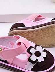 Fille Bébé Ballerines Premières Chaussures Tissu Décontracté Premières Chaussures Orange Bleu de minuit Vert Bleu Rose Plat