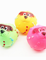 Cat Toy Dog Toy Pet Toys Ball Squeaking Toy Squeak / Squeaking Random Color Rubber