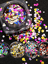 Rainbow Sequin Nail Sequins Ornament a Mixed Color