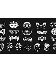 женская Nail Art шаблон маникюр изображение Stamp штамповка пластин поделок decors12x6cm 08 #