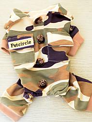 Chat Chien Costume Combinaison-pantalon Multi couleur Vêtements pour Chien Hiver Printemps/Automne camouflage Mode Sportif